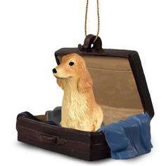Cocker Spaniel English Blonde Dog Carrycase Ornament