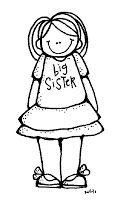 Melonheadz Illustrating Big brother and sister