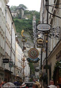 Getreidegasse Salzburg, Austria  ... What a wonderful city