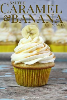 Salted Caramel & Banana Cupcake Recipe
