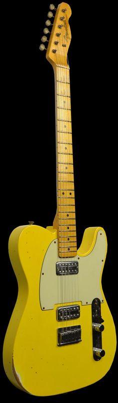 Wild West Guitars : Fender 1963 Custom Relic Telecaster Faded Graffiti Yellow w/ TV Jones Pickups