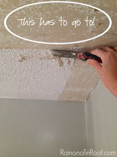 How To Remove Popcorn Ceiling And How Not To Removing