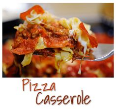 Ok. If you love pizza, pepperoni, and cheese, you will seriously love this casserole. SO. GOOD. My kids loved it, my hubby (who doesn't care...