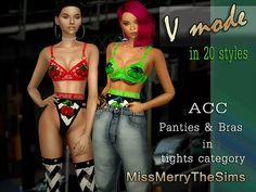 Sims4 Downloads   France   Best CC for Sims4 by missmerrythesims   Acc Panties&bras