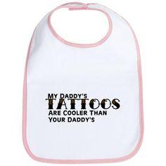 Daddy s Tattoos (Leopard) Bib Funny Babies 2ac02c77df9fe