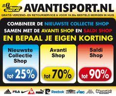 Avantisport.nl - Mega Zomerjassen sale tot 60% korting   Avantisport.nl is de webwinkel waar het hele gezin terecht kan voor sportieve merkartikelen. U vindt er kleding, schoenen en accessoires van alle bekende topmerken zoals Nike, Adidas, Asics, enz. Op de website wordt het hele assortiment in duidelijke foto's weergegeven. Op de website wordt het hele assortiment in duidelijke foto's weergegeven.
