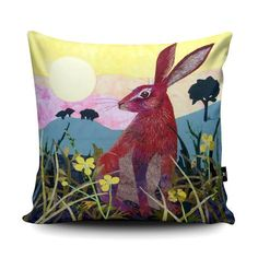 Kate Findlay - Sunrise Hare Cushion available at Wraptious