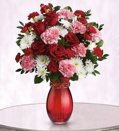 """This flower bouquet's not just lovely to send; its sparkly trinket means """"More than a Friend"""" Send Flowers Online, Fresh Flowers Online, Valentines Day Poems, Valentines Flowers, Share Pictures, Animated Gifs, Rose Arrangements, Flower Arrangement, Pink Carnations"""