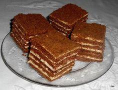 Csokis Marlenka (kommenteket is nézni kell! Hungarian Cookies, Hungarian Desserts, Cookie Recipes, Dessert Recipes, Tiramisu, Sweet Recipes, Sweet Tooth, Food And Drink, Favorite Recipes