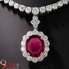 Accessories can make an outfit extraordinary. A perfect shimmering Ruby necklace with diamonds will make you look out of the crowd from 9gem.com