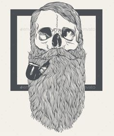 Bearded Skull - Abstract Conceptual