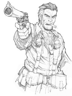 Eagleheart Sketch by Max-Dunbar