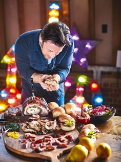 Bursting with flavour, this porchetta recipe from Jamie Oliver's Christmas Cookbook is a great Christmas dinner party idea. Brilliant for feeding a crowd. Porchetta Recipes, Pork Recipes, Game Recipes, Jamie Oliver, Italian Christmas, Organic Chicken, Chicken Livers, Dried Apricots, Feeding A Crowd