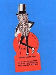 Vintage Planters Peanuts Mr Peanut Bookmark