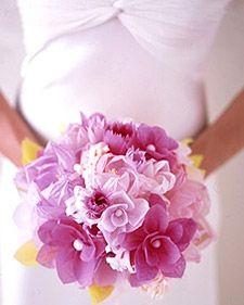 Tissue paper flowers. wedding-ideas