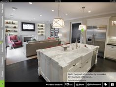 Family Room Layout Design, Pictures, Remodel, Decor and Ideas Living Room And Kitchen Design, Open Plan Kitchen Living Room, Kitchen Design Open, Kitchen Family Rooms, Open Concept Kitchen, Family Room Design, Small Kitchen Family Room Combo, Kitchen Designs, 10x10 Kitchen