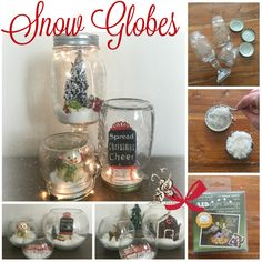 Christmas Snow Globes by Fairytale Gardens