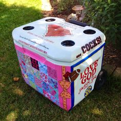 DIY Painted Cooler   Sweet Tea & Sass sweetteaandsass.com