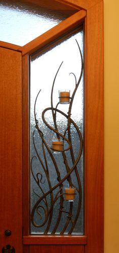 Iron, Steel, Candles, Security Grill, Window, Art Nouveau, Daniel Hopper Design, Forged, Blacksmith