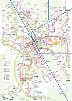 Track map of Amsterdam The Netherlands streetcar system Transit