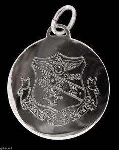 Sigma Sigma Sigma, ΣΣΣ, Tri Sigma Engraved Crest Sterling Silver Charm NEW