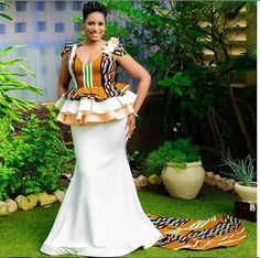 Sotho Traditional Dresses, South African Traditional Dresses, African Traditional Wedding, African Print Dresses, African Print Fashion, African Fashion Dresses, African Dress, Kente Styles, Ankara Gown Styles