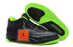 Air Jordan 3 Phat Black Green