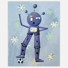 Like children, robots are very cute. Robots also sometimes make mistakes. And similar to most kids, they're pretty adorable when they goof up. Grab your little human's attention and tickle her funny bone with relatable, robot canvas prints from Cici Art Factory. Sure, they've been to the moon. But these robots can do better than that. They can entertain your kid.