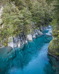 The magical Blue Pools just outside of wanaka. NEW ZEALAND @samdeuchrass