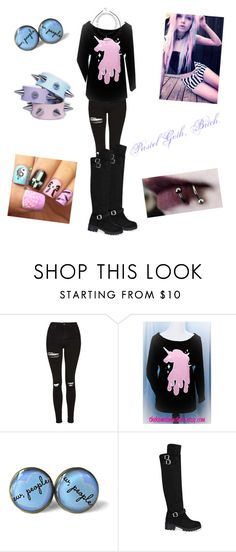 """Its Called Pastel Goth"" by jayy-biersack on Polyvore featuring Topshop and Charlotte Russe"