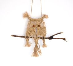 Macrame Owl Macrame Wall Hanging Tapestry Owl by MellyBoutique