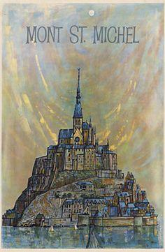 Image result for mont saint michel poster