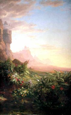 The Voyage of Life: Childhood (detail) - Thomas Cole - WikiArt.org