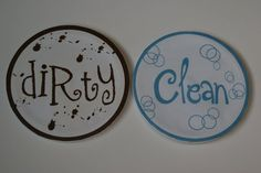 Obsessively Crafting: Dishwasher Magnet- Now there are no excuses!