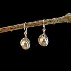 Fine Silver Droplet Earrings