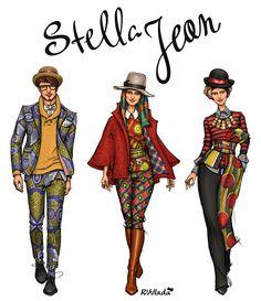 Stella Jean fall 2013 by RVVlada #rvvlada #stellajean #fashionillustration #fall2013 #fashion #illustration #art #draw #drawing #graphic #sketch #sketching #girl #woman #man