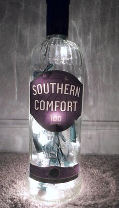 Southern Comfort 100 Proof Lighted Alcohol Bottle by SchulersGlassDecor, $17.00