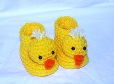Duckie Animal Baby Booties