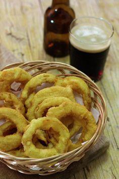 Cinco Quartos de Laranja: Anéis de cebola fritos