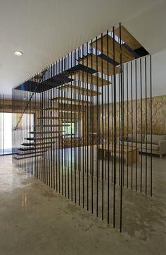 Casa Rural El Cobijo de la Sonsierra, San Vicente de la Sonsierra, 2012 - blur arquitectura #stairs #metal #wood #staircase