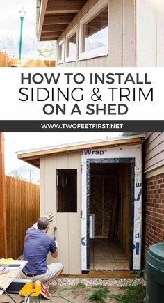 Do you need another place to store your yard tools? It's time for a shed! And here is the process of how to install siding and trim on a DIY shed.