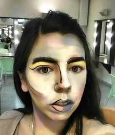 Love unusual makeup ❤  M.u.a:gal dayan