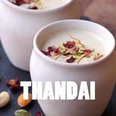 How to Make Thandai at home - Refreshing, rich and delicious Indian drink made with milk, nuts and spices. Kulfi Recipe, Jamun Recipe, Chaat Recipe, Holi Recipes, Veg Recipes, Cooking Recipes, Snacks Recipes, Cooking Tips, Weight Loss Tea