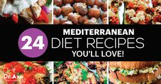 The health benefits of the Mediterranean diet are undeniable. Here are 24 healthy Mediterranean diet recipes to get all that great nutrition in the tastiest forms. Healthy Diet Plans, Diet Meal Plans, Healthy Foods To Eat, Healthy Eating, Stay Healthy, Healthy Smoothies, Meditranian Recipes, Cooking Recipes, Healthy Recipes