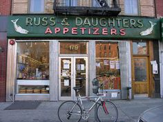 44 places in New York City that still exists. Here, Russ & Daughters, 179 East Houston St. (East Village). I've enjoyed lox and bagels from here since kneehigh to a toadstool, and its lovely that its stillthere to be enjoyed, though most other Orchard Street businesses that are similar are gone. Benz of dried fruits and nuts, herring, fabric to be haggled over at the small shops. All gone. But this place remains :-)