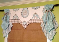 Made To Order......Cute Reversible Shaped Valance can be