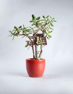 Artista cria mini casas na árvore super realistas