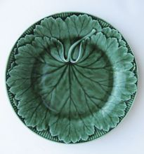 English Wedgwood Majolica Leaf Plate