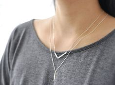 Slice hammered gold filled bar necklace minimal jewelry by edor