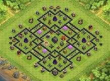 trophy base TH 9 Clash of Clans Base Layout